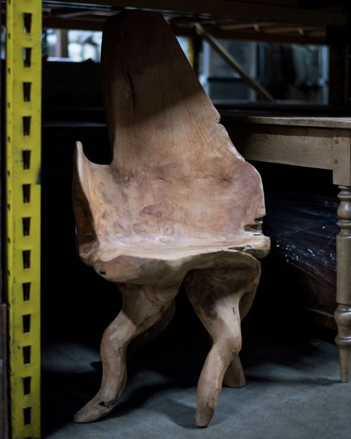 A unique chair at Rosichelli Design in Seattle on March 1, 2018.