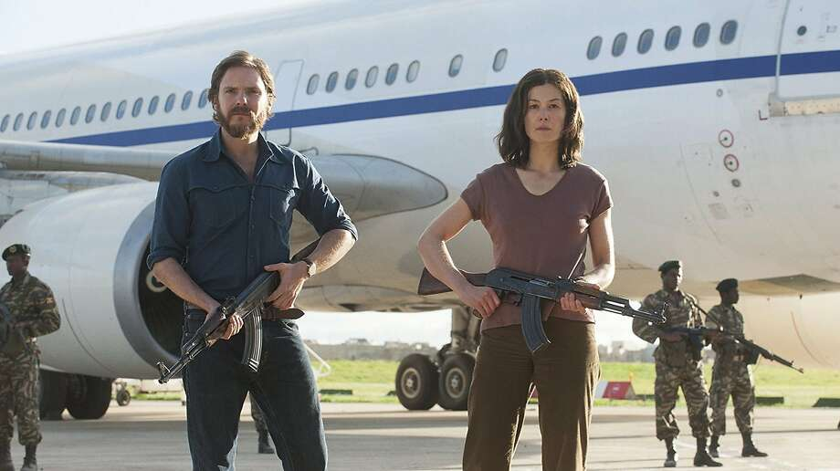 "Daniel Bruhl and Rosamund Pike in ""7 Days in Entebbe."" Photo: Liam Daniel, Focus Features"