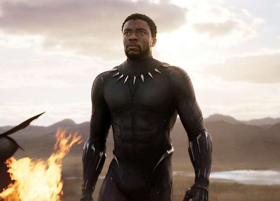 "This image released by Disney and Marvel Studios' shows Chadwick Boseman in a scene from ""Black Panther."" (Marvel Studios/Disney via AP) Photo: Associated Press"