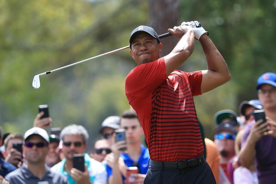 PALM HARBOR, FL - MARCH 11:  Tiger Woods plays his shot from the second tee during the final round of the Valspar Championship at Innisbrook Resort Copperhead Course on March 11, 2018 in Palm Harbor, Florida.  (Photo by Sam Greenwood/Getty Images) Photo: Sam Greenwood, Getty Images
