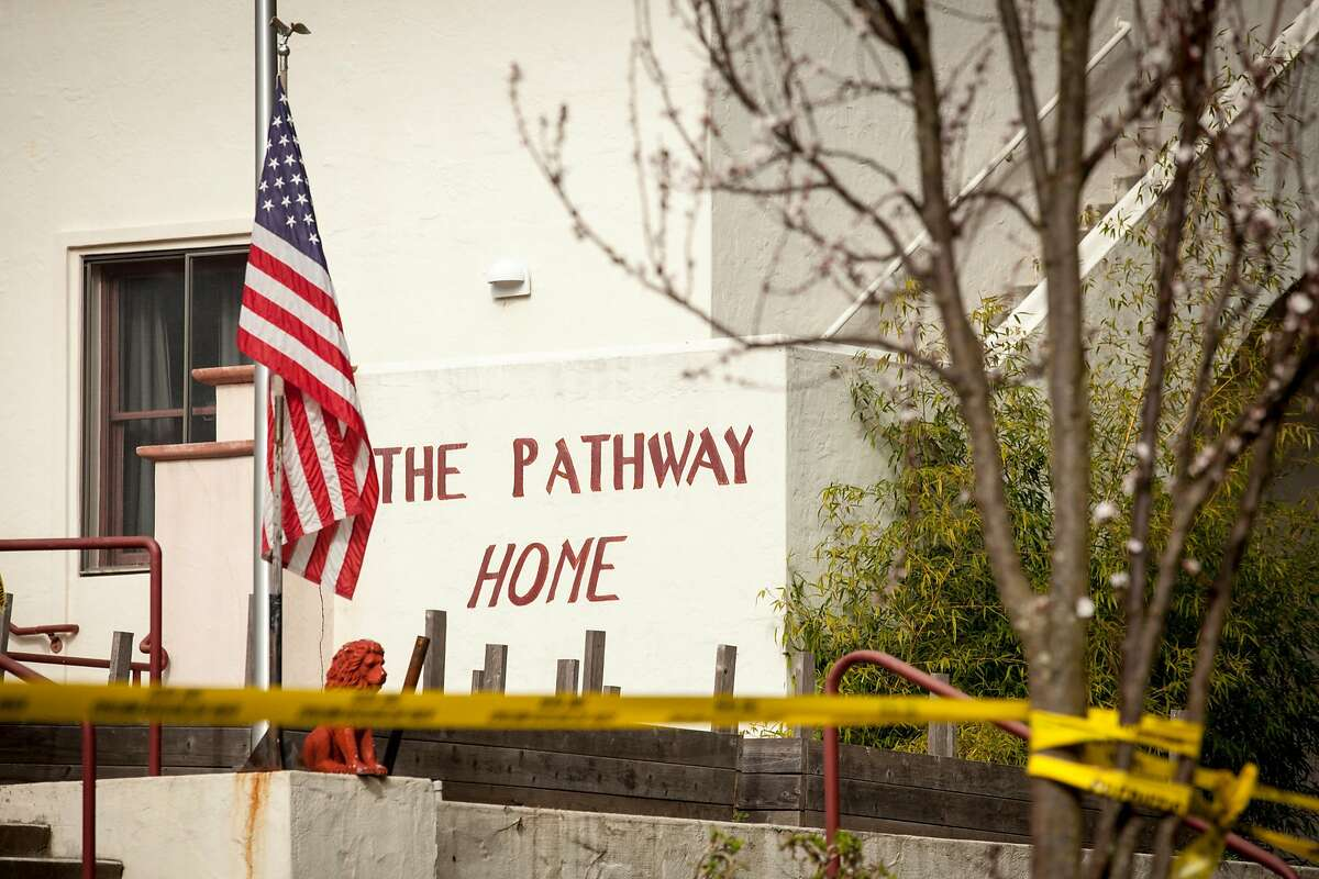 The front entrance of the Pathway Home on the Veteran Home of California campus where three employees of Pathway were killed by a former patient , Friday March 09 in Yountville, California, USA 11 Mar 2018.