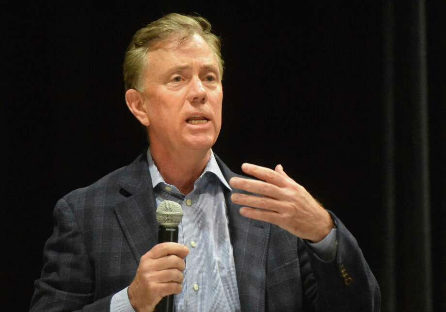 Democratic candidate for Governor Ned Lamont answers a question from the moderators during a gubernatorial forum for seven candidates for Governor at Fairfield Woods Middle School on Sunday March 11, 2018 in Fairfield Conn. Photo: Alex Von Kleydorff / Hearst Connecticut Media / Norwalk Hour