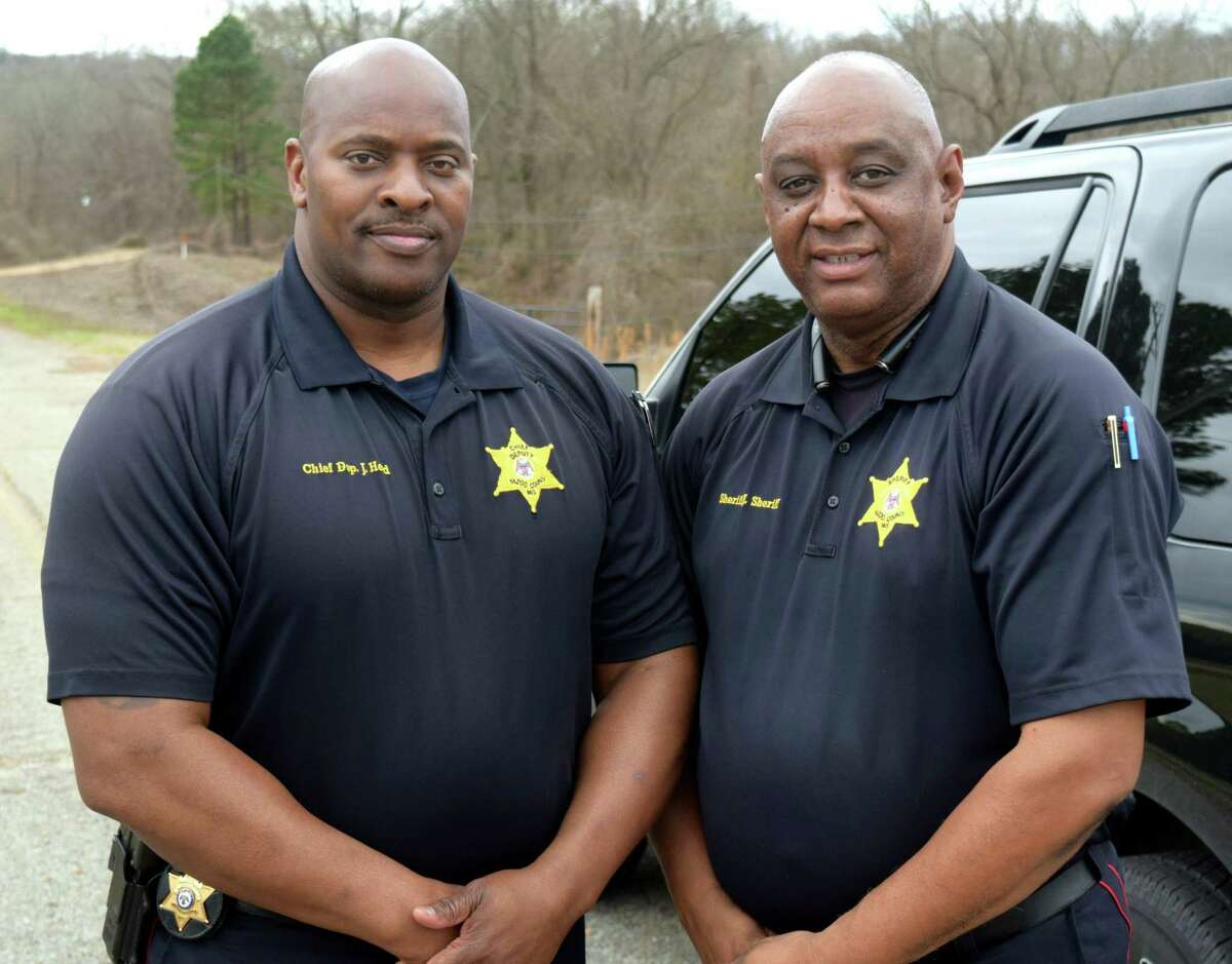 Yazoo Chief Deputy Joseph Head and Sheriff Jacob Sheriff, who guided the family of Norwalk civil rights activist PaulMorgansternto the site where he was killed in Mississippi in 1968.