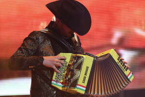 Calibre 50's Eden Muñoz performs at Rodeo Houston's Go Tejano Day.  Sunday, March 11, 2018, in Houston.