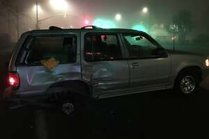 An 18-year-old man was arrested on suspicion of driving under the influence after he struck four pedestrians with his vehicle and fled the scene.