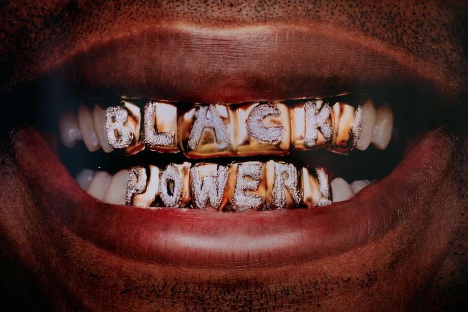"""""""Black Power,"""" Digital C-Print, 2006 by Hank Willis Thomas. Part of the Oakland Museum of California's new exhibition """"Respect: Hip-Hop Style and Wisdom."""" Photo: Oakland Museum"""