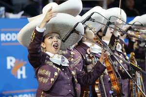 Mariachi Mariposas perform at Rodeo Houston's Go Tejano Day.  Sunday, March 11, 2018, in Houston. ( Steve Gonzales / Houston Chronicle )