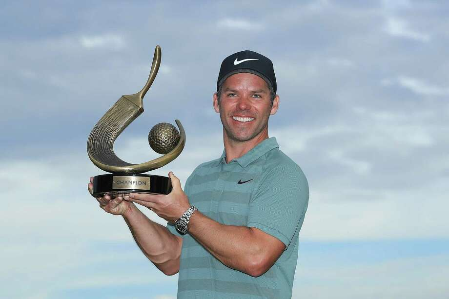 PALM HARBOR, FL - MARCH 11:  Paul Casey of England poses with the Valspar Championship trophy after winning at Innisbrook Resort Copperhead Course on March 11, 2018 in Palm Harbor, Florida.  (Photo by Sam Greenwood/Getty Images) Photo: Sam Greenwood, Staff / 2018 Getty Images
