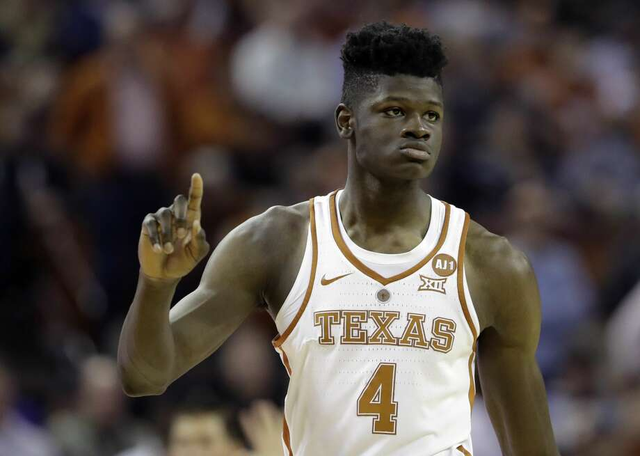 Texas forward Mohamed Bamba (4) during the second half of an NCAA college basketball game against Kansas State, Wednesday, Feb. 7, 2018, in Austin, Texas. Kansas won 67-64.(AP Photo/Eric Gay) Photo: Eric Gay/Associated Press