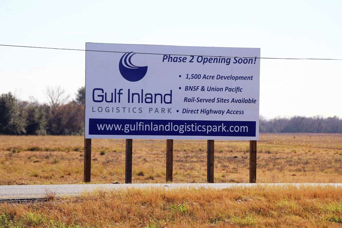 This site on US 90 heading east into Dayton from Crosby is where Gulf Inland Logistics Park will be built and the industrial park is expected to bring with it jobs and a huge tax base for both the county and the city of Dayton.