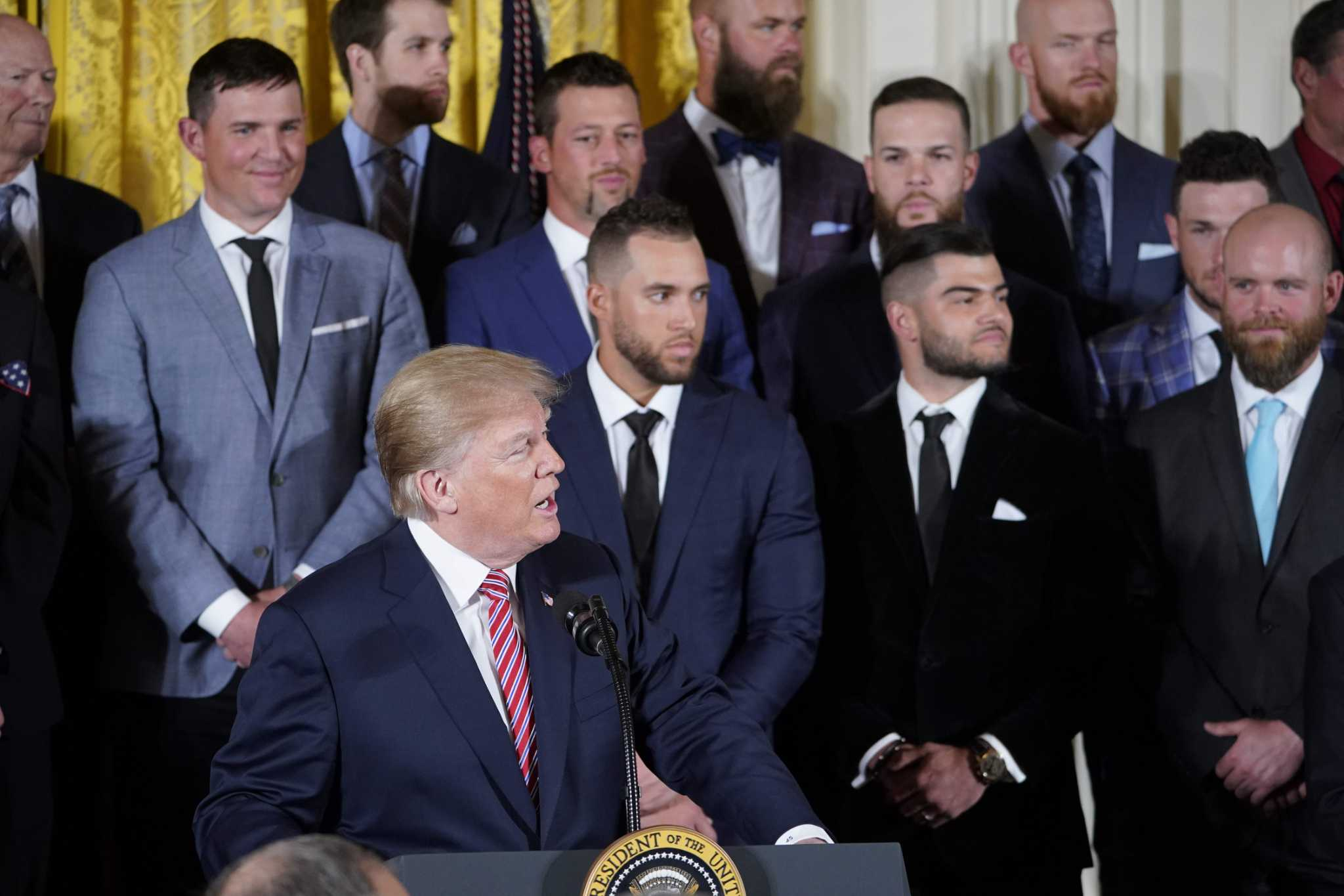 730a50c75 Watch video of the Astros  visit to the White House - Houston Chronicle