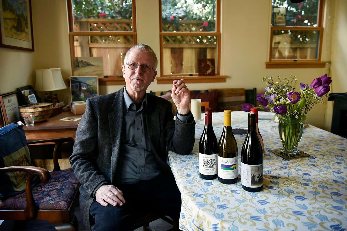 Winemaker Steve Edmunds talks about his Edmunds St. John wines, at his home in Berkeley, CA, on Monday February 19, 2018.