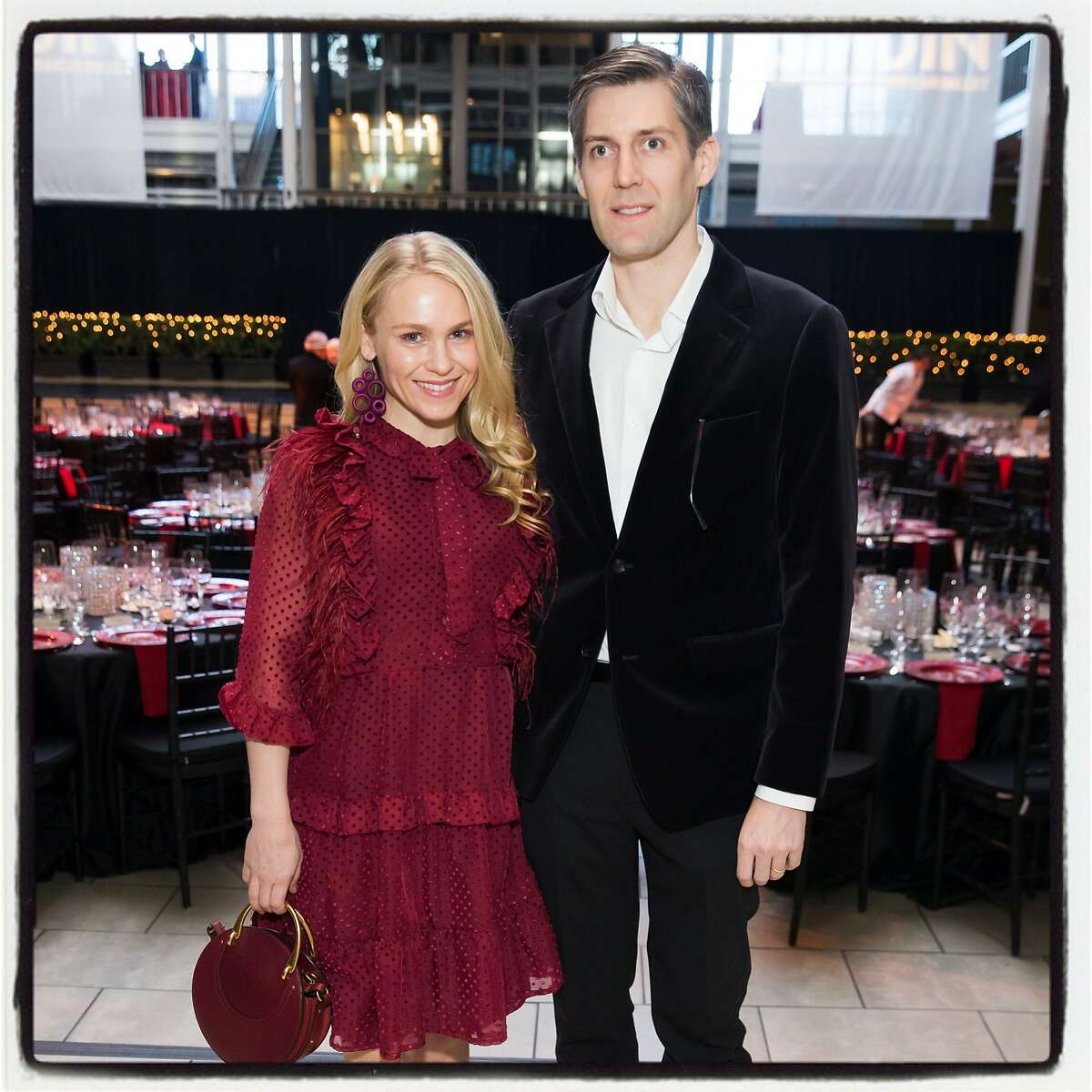 Tatum and Alexander Getty at the Smuin Ballet gala. March 4, 2018.