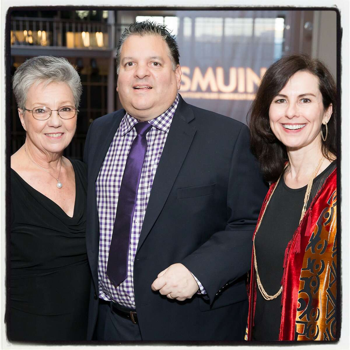 Smuin Ballet gala cochair Patti Hume (left) and John Konstin with Smuin Artistic Director Celia Fushille. March 4, 2018.