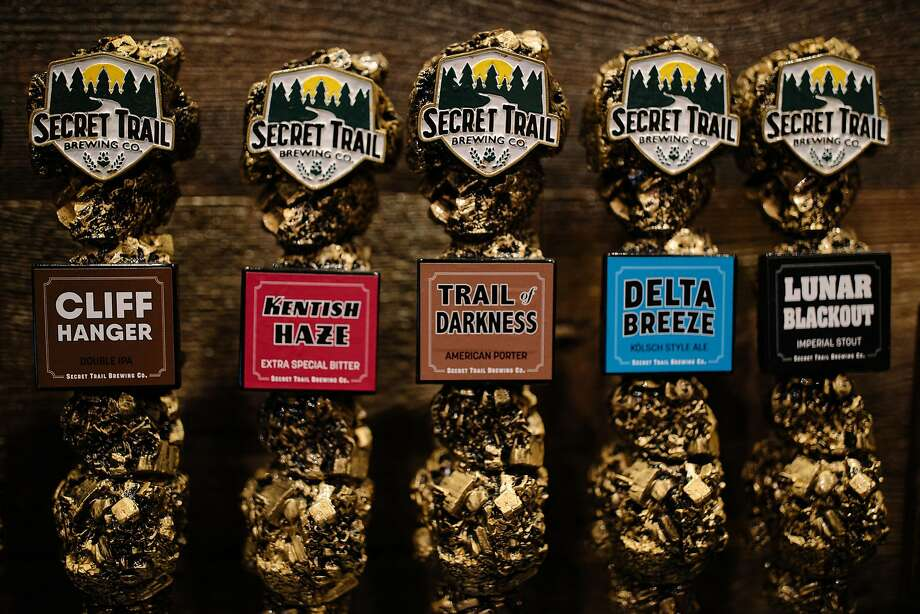 A selection of beers on tap at Secret Trail Brewing in Chico. Photo: Mason Trinca, Special To The Chronicle