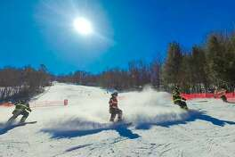 Mohawk Mountain Ski Area in Cornwall held the eighth annual Firefighter Race on Sunday, with proceeds benefiting the Connecticut Burn Center at Bridgeport Hospital.