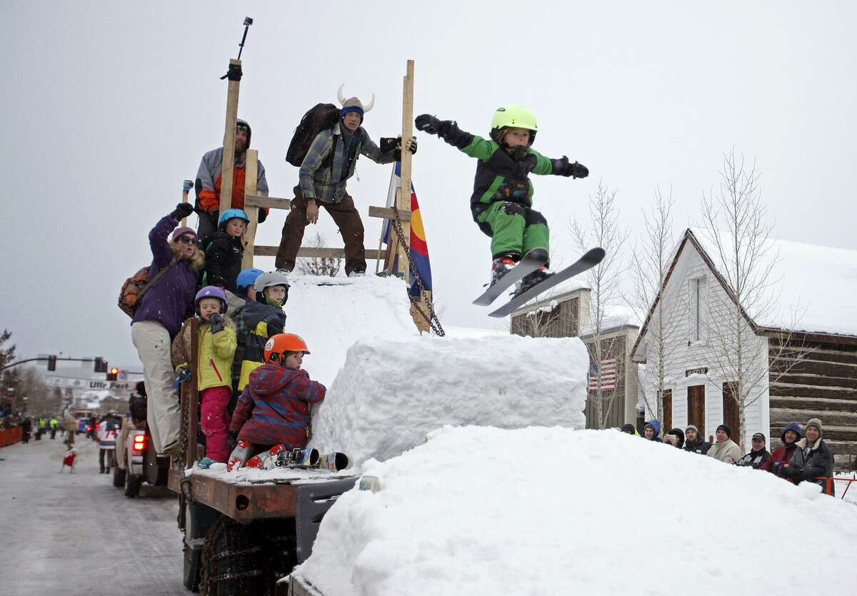 At Breckenridge's annual ULLR Fest, the parade brings out fun-loving snow folks to the beautiful downtown blocks.