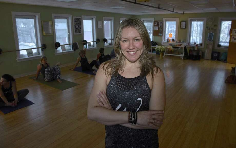 Wanessa Anderson of W. Rhythm Fitness & Wellness in Kent on March 6. Photo: H John Voorhees III / Hearst Connecticut Media / The News-Times