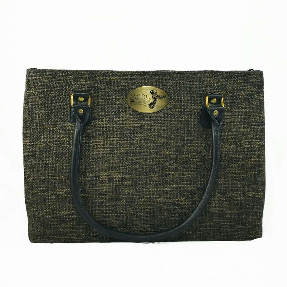 Made for Freedom's purses are designed for the western professional woman. They come in two sizes and are made in Thailand by survivors of trafficking. Photo: Courtesy Photo