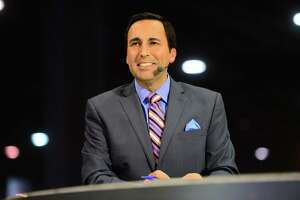 "Niskayuna native Joe Tessitore, on the set of SEC Nation during coverage of the 2014 SEC Championship game, will work the ""Homer Telecast"" on Monday, Jan. 11, 2016, for the College Football Playoff title game.  (Photo by Phil Ellsworth / ESPN Images) ORG XMIT: MER2015080621200704"
