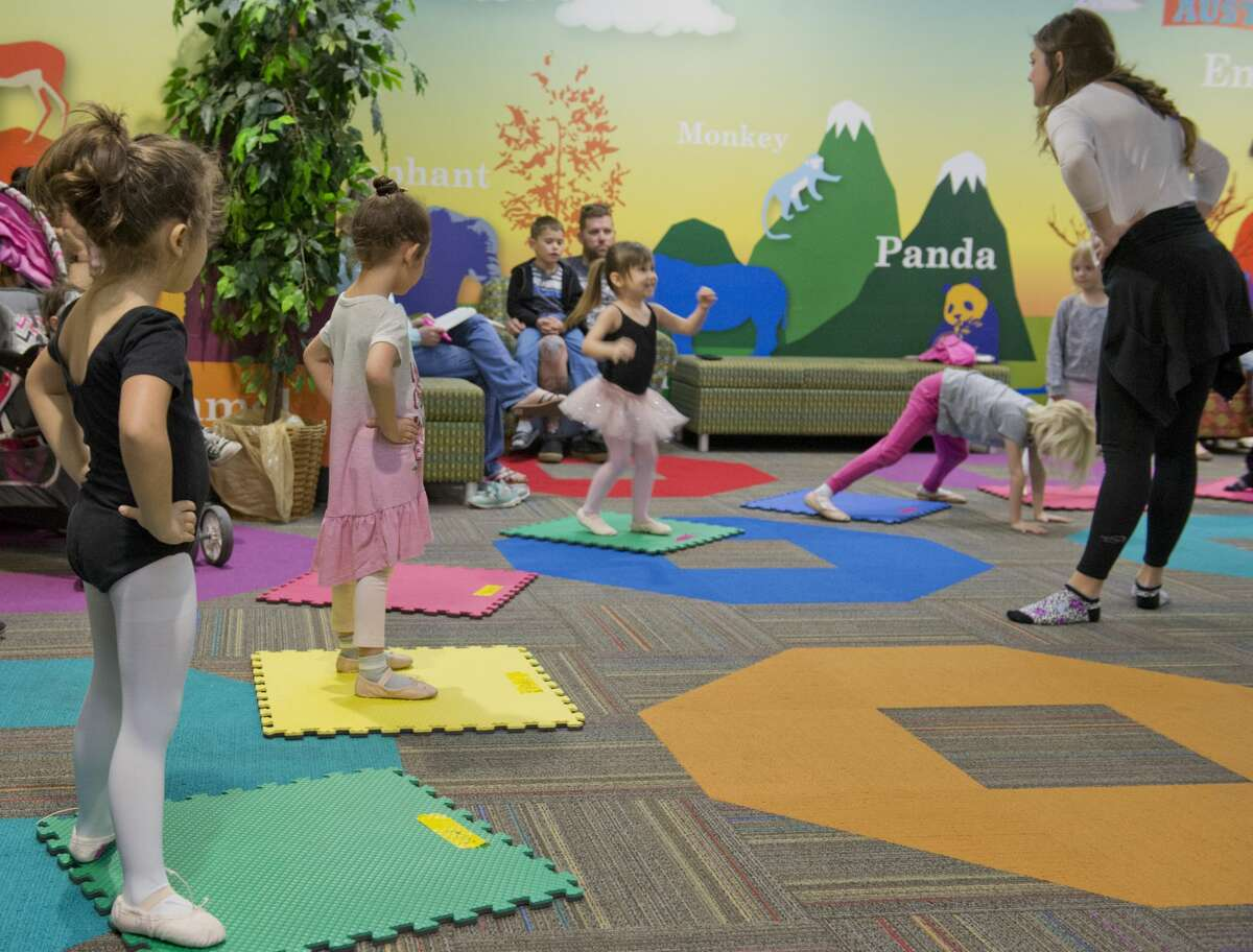 Meghan Swain, with Midland Festival Ballet, leads a class 03/12/18 at the Centennial Branch Library, for Princess Ballet Camp during Spring Break week. Tim Fischer/Reporter-Telegram