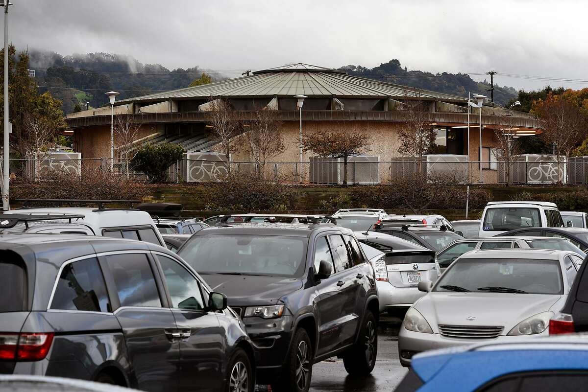 Cars fill a portion of the parking lot at the North Berkeley BART station in Berkeley, CA, on Friday March 2, 2018.