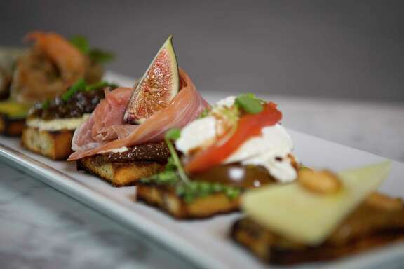 Fig & Olive, a new restaurant in the Galleria, offers six signature crostini.