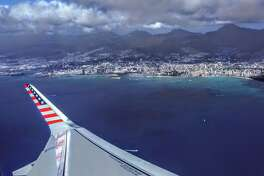 Taking off from Honolulu on one of Virgin America's first nonstop A321 flights to SFO
