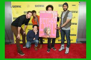 "AUSTIN, TX - MARCH 11:  (L-R) Actors Armie Hammer, Steven Yeun, and Jermaine Fowler, director and screenwriter Boots Riley, and actor Omari Hardwick attend the ""Sorry to Bother You"" premiere during the 2018 SXSW Conference and Festivals at ZACH Theatre on March 11, 2018 in Austin, Texas.  (Photo by Michael Loccisano/Getty Images for SXSW)"