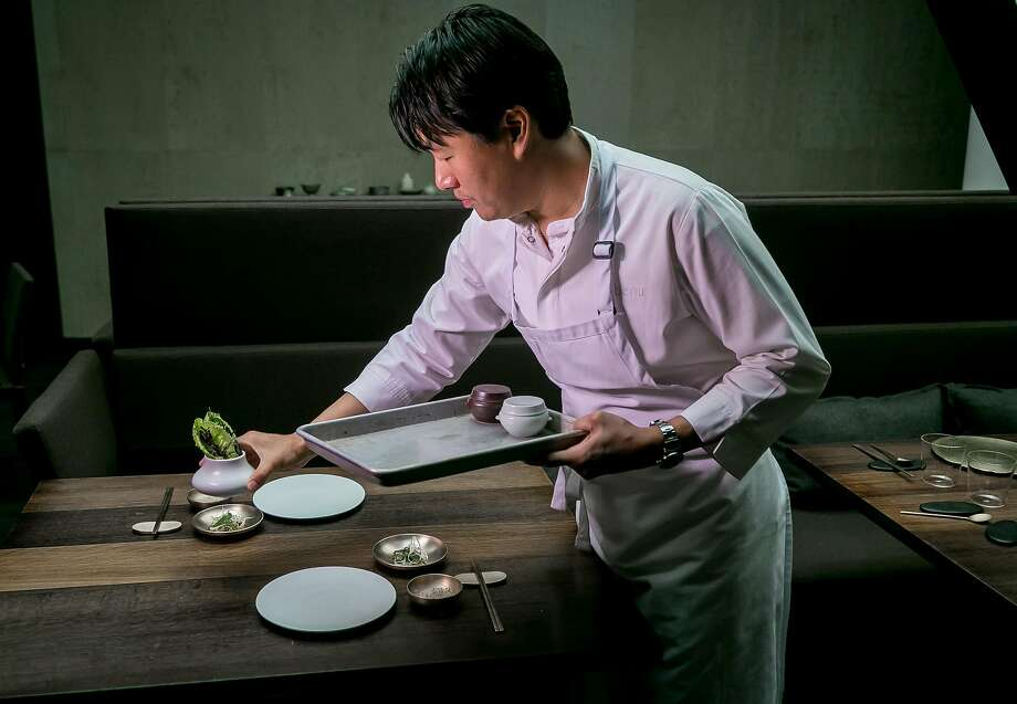 Chef Corey Lee in the kitchen at Benu, which he opened in 2010. Photo: John Storey, Special To The Chronicle