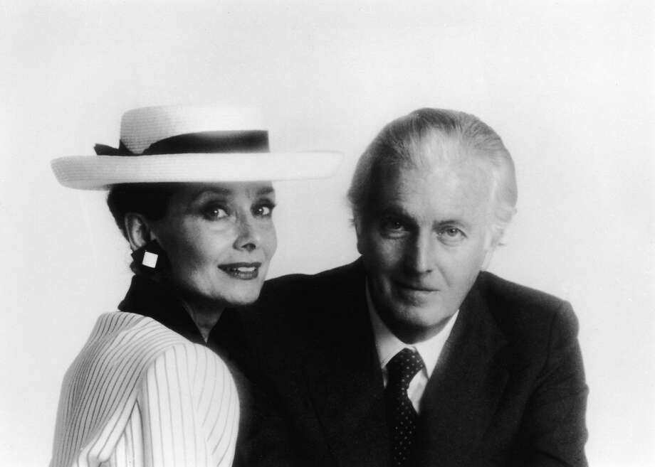 A mid-1980s photo shows French designer Hubert de Givenchy with Audrey  Hepburn 30df39882f2