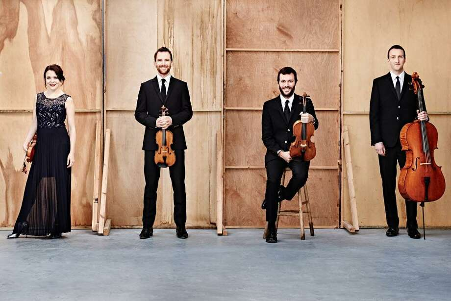 Members of London-based Heath Quartet are, from left, Sara Wolstenholme, violin; Oliver Heath, violin; Gary Pomeroy, viola; and Chris Murray, cello. The group will perform in New Canaan on Sunday, March 25, 2018. Photo: Kaupo Kikkas / Contributed Photo / © Kaupo Kikkas