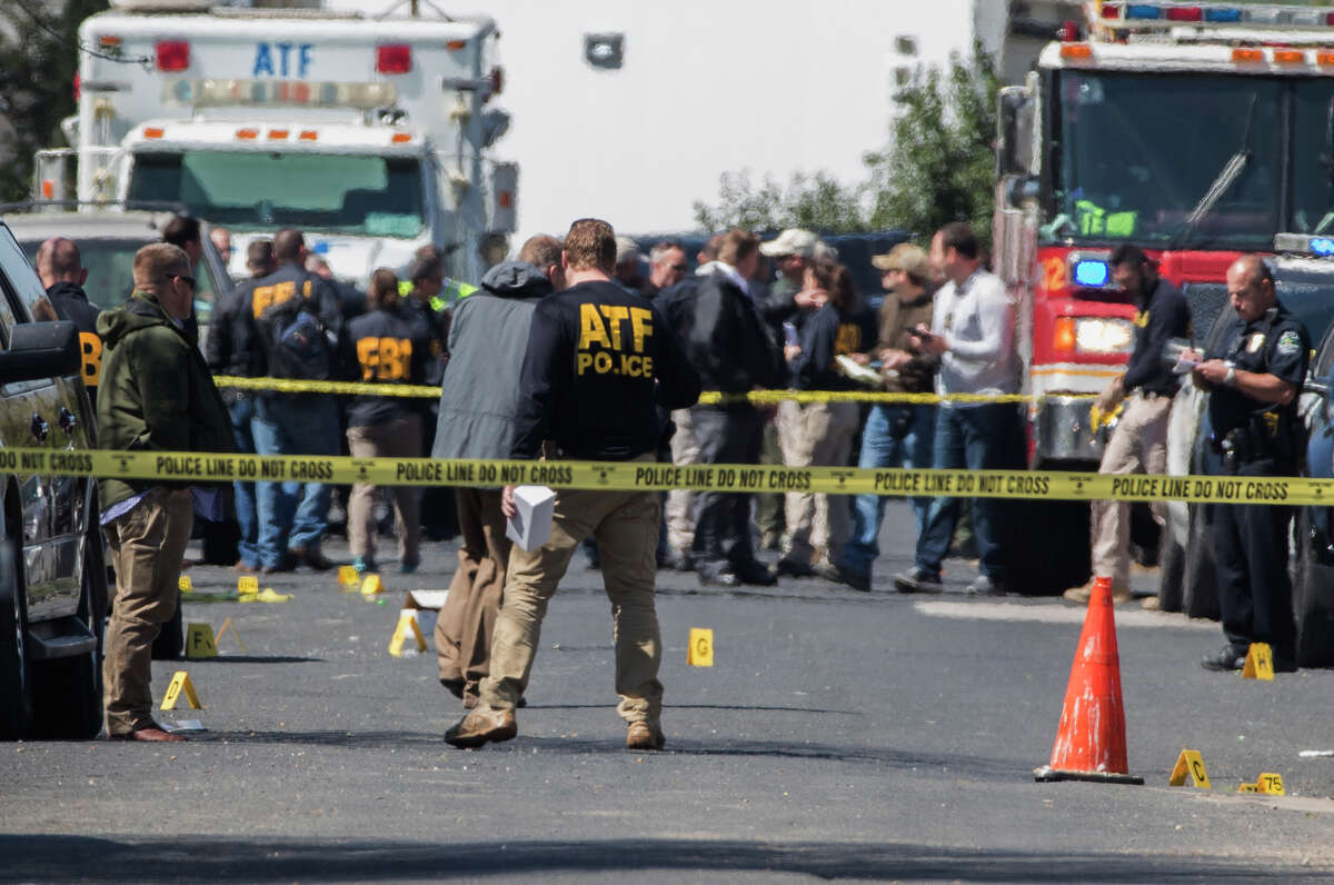 March 2: The first mail package explosion is reported in the 1100 block of Haverford Drive in Austin. The explosion killed Anthony Stephan House, 39. (Ricardo B. Brazziell/Austin American-Statesman via AP)