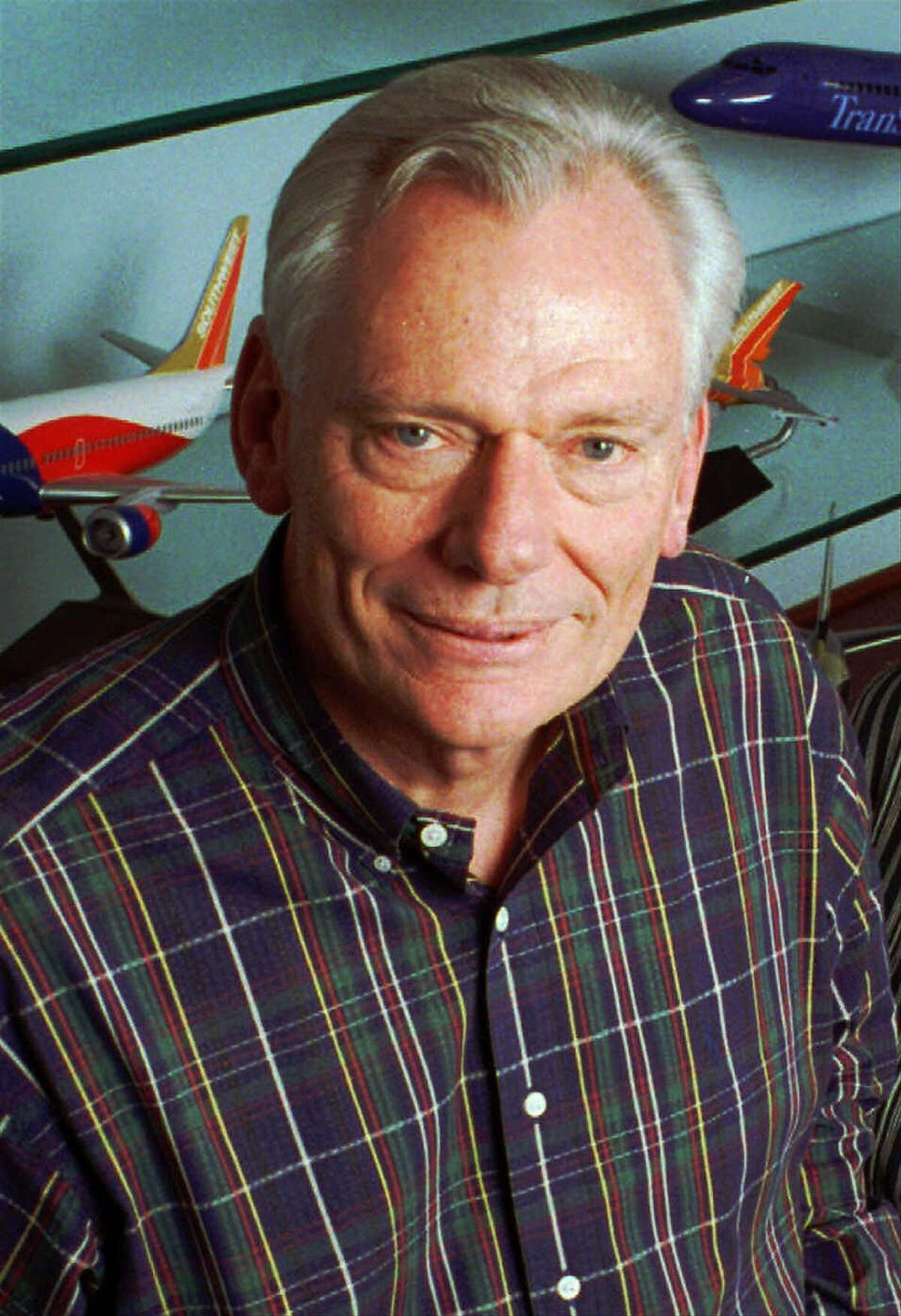 Herb Kelleher, Southwest Airlines' co-founder and chief executive, poses in Dallas, May 8, 1996.