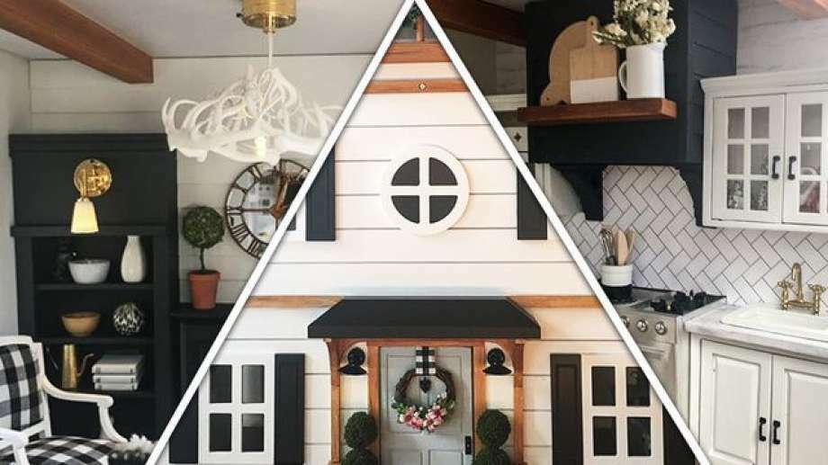 """Fixer Upper"" fan Kwandaa Roberts focused her passion on a dollhouse for her 3-year-old daughter. Photo: Realtor.com/instagram.com/tinyhousecalls"
