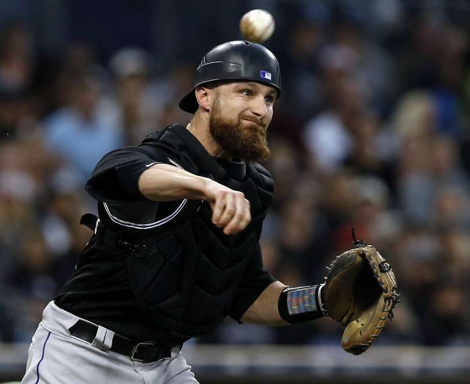 Former Rockies catcher Jonathan Lucroy hit 18 fewer homers and drove in half as many runs last season as he did in 2016. Photo: Alex Gallardo, Associated Press