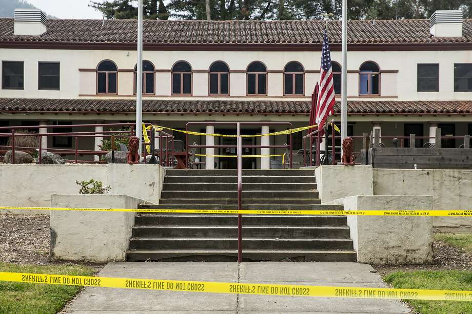 Caution tape surrounds the Madison Hall of Pathway Home following the deadly shooting of three female Pathway employees by a former resident at Yountville Veterans Home of California Saturday, March 10, 2018 in Yountville, Calif. Photo: Jessica Christian, The Chronicle