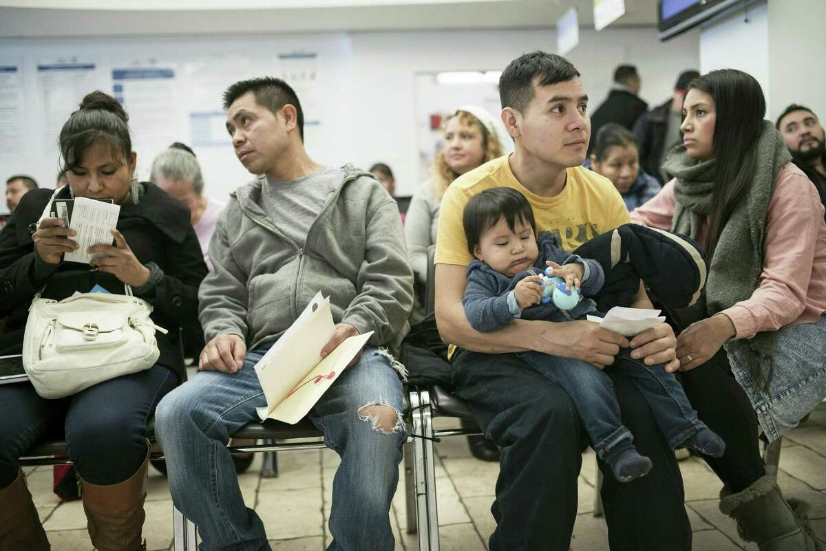 People wait at the Mexican Consulate in New York, Feb. 17, 2017. Mexican consulates across the country have been flooded with calls and visits from Mexican nationals worried about President Donald Trump's promise to crack down on immigrants living in the U.S. illegally.