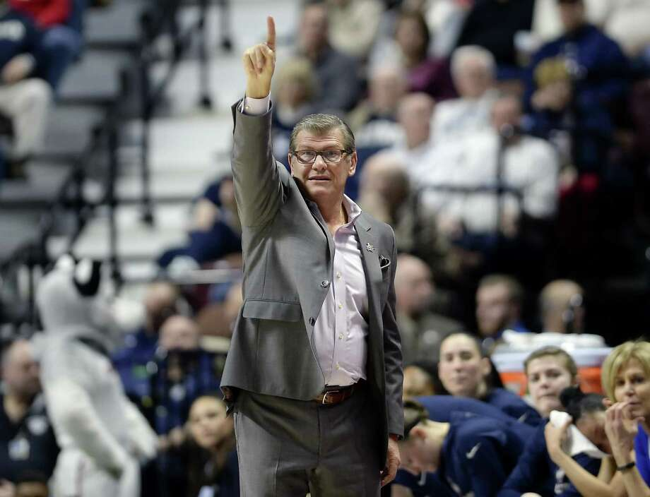 Coach Geno Auriemma and the UConn women's basketball team is the No. 1 overall seed in the NCAA tournament for the 13th time. Photo: Associated Press File Photo / AP2017