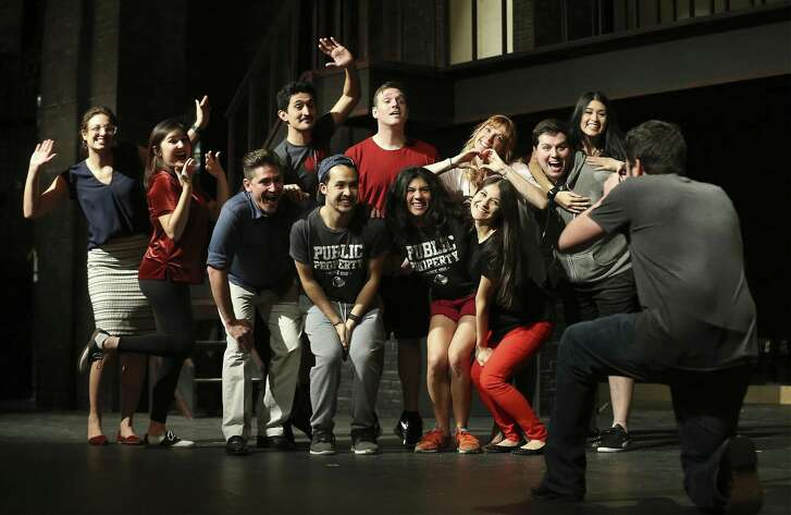 "The cast of ""If/Then"" rehearse a scene for the upcoming musical production at The Public Theater of San Antonio."