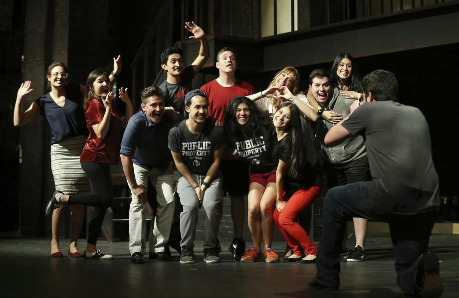 "The cast of ""If/Then"" rehearse a scene for the upcoming musical production at The Public Theater of San Antonio. Photo: Kin Man Hui /San Antonio Express-News / ©2018 San Antonio Express-News"