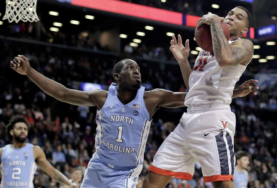 Virginia heads into the NCAA tournament as the top overall seed while North Carolina is the defending national champions. The two met in the ACC championship last week with the Cavaliers coming away with a narrow victory. Photo: Julie Jacobson /Associated Press / Copyright 2018 The Associated Press. All rights reserved.