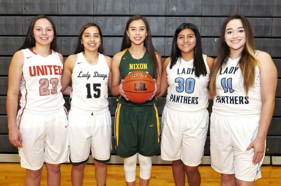 The LMT All-City first team is United's Natalia Trevino, Alexander's Macayla Munoz, Nixon's Jennifer Pena and United South's Evelyn Cruz and Carolina Berlanga. Photo: Cuate Santos /Laredo Morning Times / Laredo Morning Times