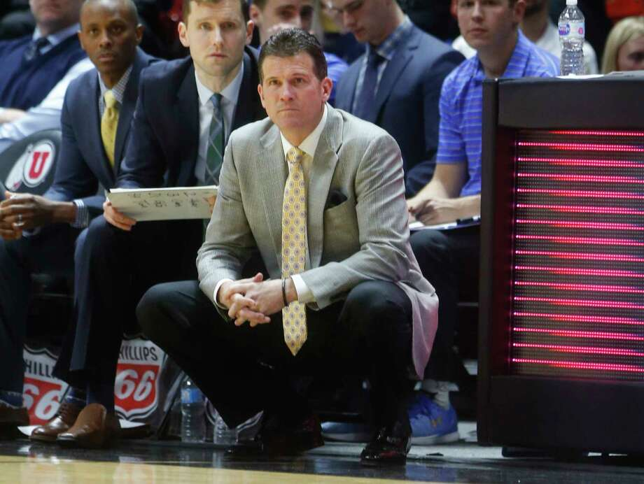 FILE - In this Feb. 22, 2018, file photo, UCLA coach Steve Alford watches the first half of  an NCAA college basketball game against Utah in Salt Lake City. Alford, who has led the Bruins to the NCAA Tournament for the fourth time in five seasons, said he was surprised they were picked last and were sent to Dayton. (AP Photo/Rick Bowmer, File) Photo: Rick Bowmer / Copyright 2018 The Associated Press. All rights reserved.