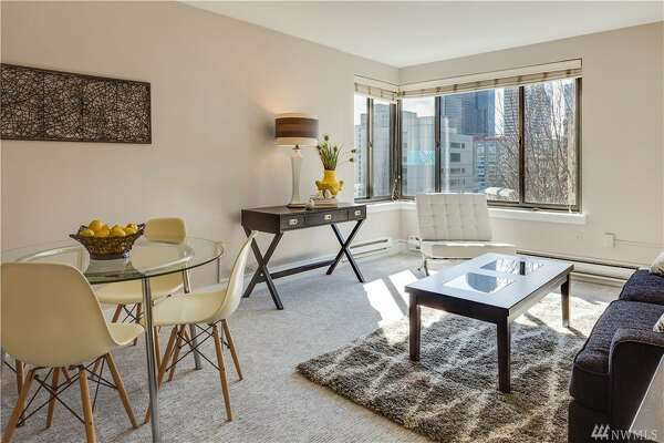 This $375K one bedroom condo on First Hill is the Decatur, designed by Space Needle architect John Graham.