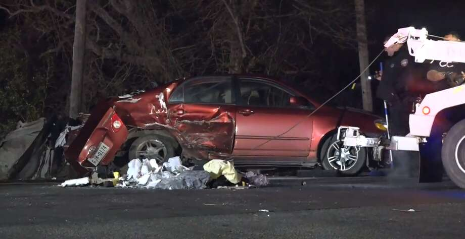 One person is in critical condition and four others are also injured after a multi-vehicle accident in Highlands Tuesday, March 13, 2018. Photo: Metro Video