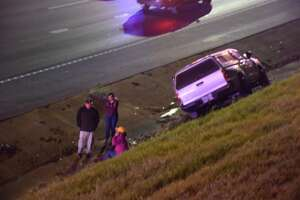 A driver was killed on Tuesday, March 13, 2018 after crashing on Interstate 35 near the Pine Street bridge in San Antonio's downtown area.