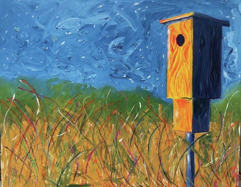 A painting of the Watershed Nature Center by Edwardsville artist Steve Hartman. Photo: For The Intelligencer