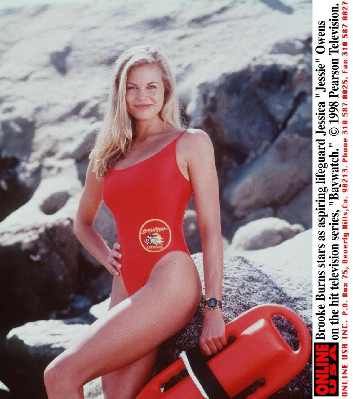 Brooke Burns through the years Brooke Burns stars as an aspiring lifeguard Jessica