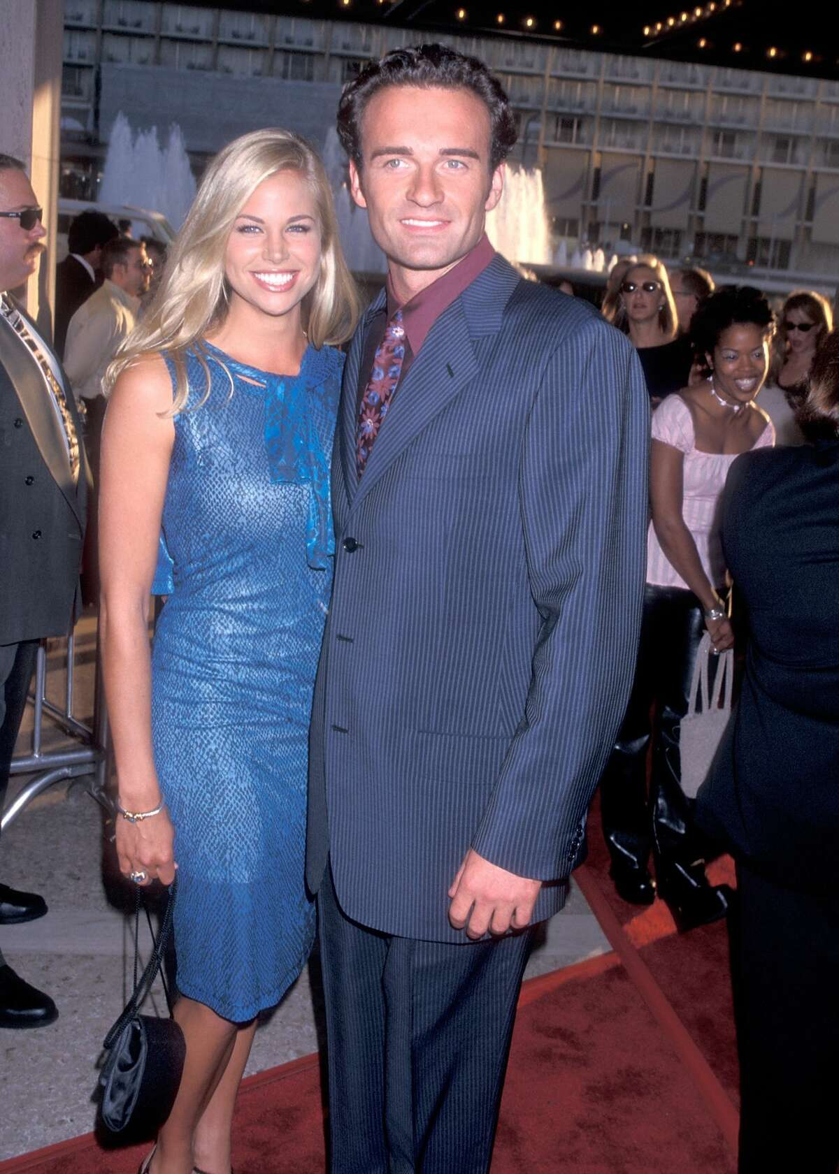 Actress Brooke Burns and actor Julian McMahon attend the